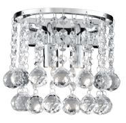 Hanna Wall Light in Polished Chrome with Crystal Drops - SEARCHLIGHT 2402-2CC